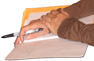 person poised to write, to do estate plan or will maintenance.